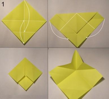 котёнок оригами схема 1