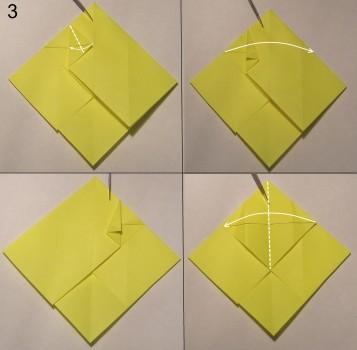 котёнок оригами схема 3
