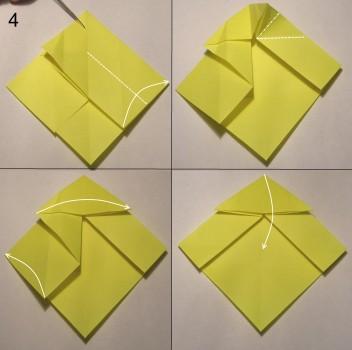 котёнок оригами схема 4