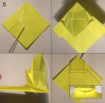 котёнок оригами схема 5