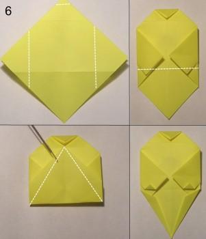 котёнок оригами схема 6