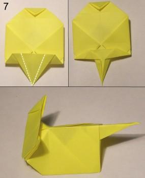 котёнок оригами схема 7