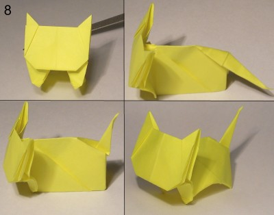 котёнок оригами схема 8