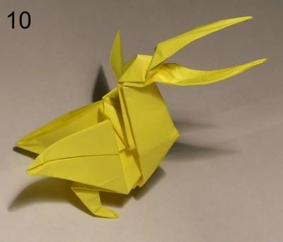 Готовый пеликан оригами John Montroll