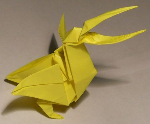 Пеликан оригами