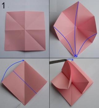 Схема розы оригами 1