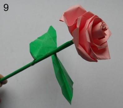 Схема розы оригами 9