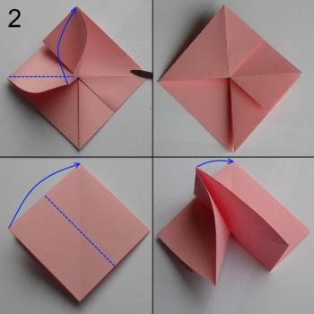 Схема розы оригами 2