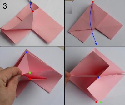 Схема розы оригами 3
