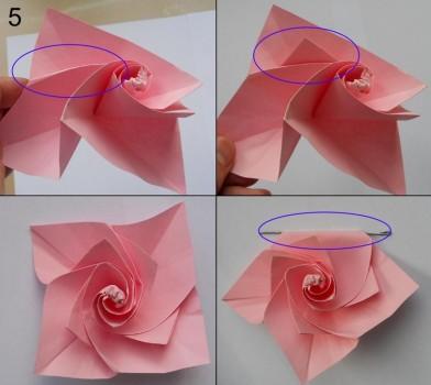 Схема розы оригами 5