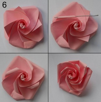 Схема розы оригами 6