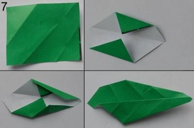 Схема розы оригами 7