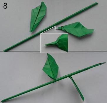 Схема розы оригами 8