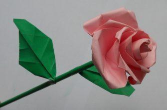 Оригами роза по схеме Stefan Weber