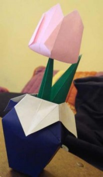 тюльпан в вазе