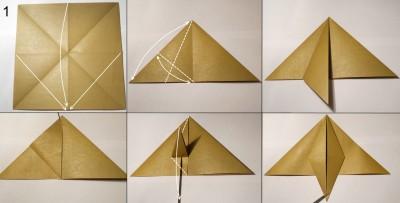 оригами обезьяна схема 1