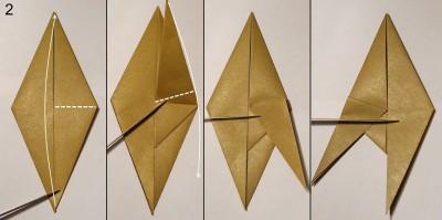 оригами обезьяна схема 2