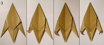 оригами обезьяна схема 3