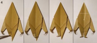оригами обезьяна схема 4