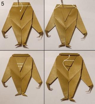 оригами обезьяна схема 5