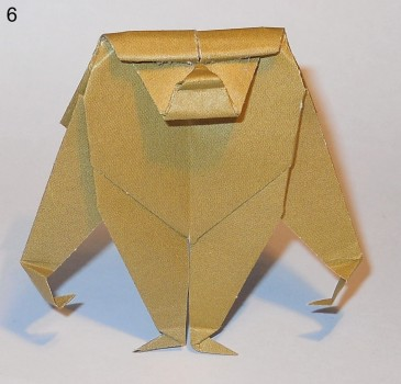 оригами обезьяна схема 6