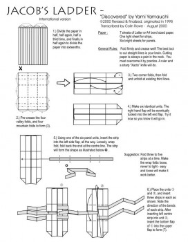 Лестница оригами якоба схема часть 1