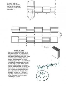 Лестница оригами якоба схема часть 3