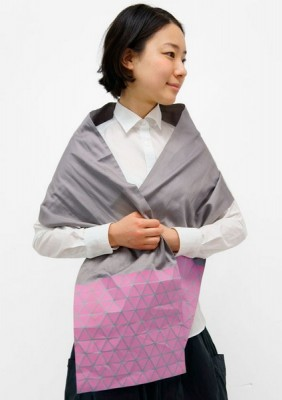 Японский шарф-головоломка Kaku-Kaku 3