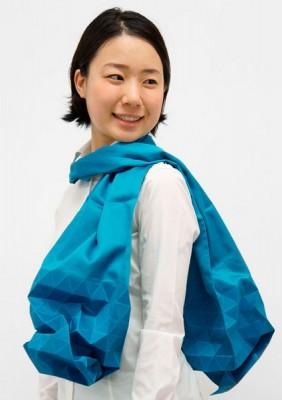 Японский шарф-головоломка Kaku-Kaku 2