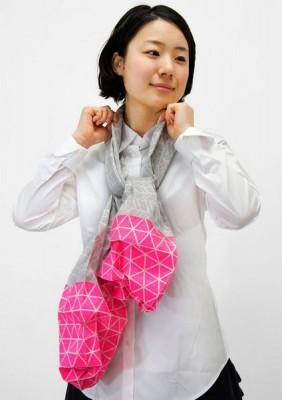 Японский шарф-головоломка Kaku-Kaku 7