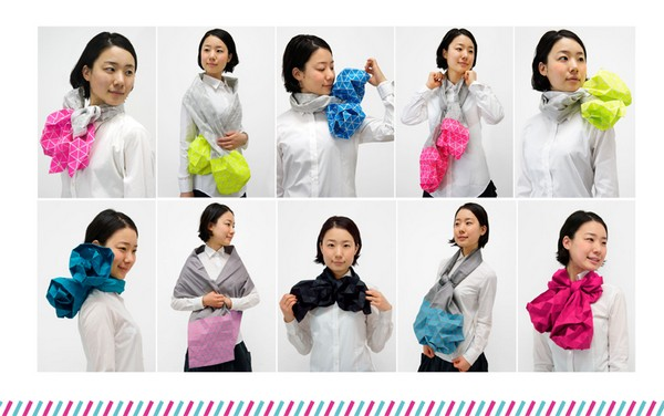 Японский шарф-головоломка Kaku-Kaku 9