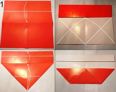 Схема конверта оригами 1