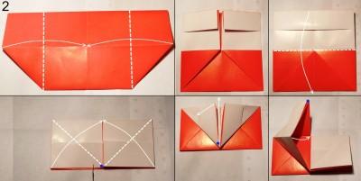 Схема конверта оригами 2
