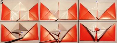 Схема конверта оригами 5