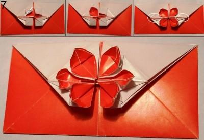Схема конверта оригами 7