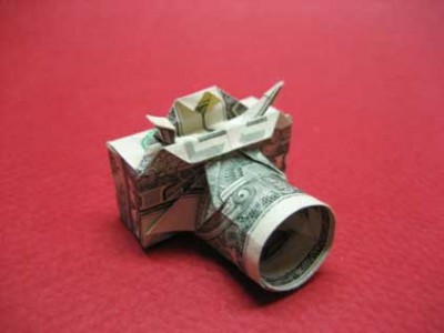 Фотоаппарат оригами из доллара