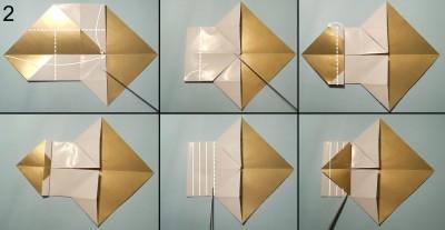 оригами снеговик схема 2