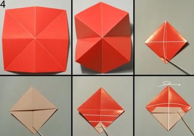 оригами снеговик схема 4