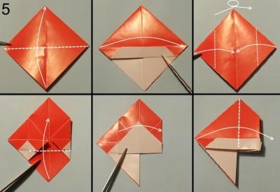 оригами снеговик схема 5