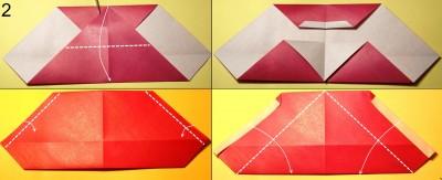 оригами дед мороз схема 2
