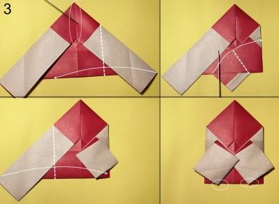 оригами дед мороз схема 3
