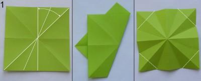 оригами елка сехма 1
