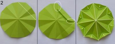 оригами елка сехма 2