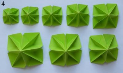 оригами елка сехма 3