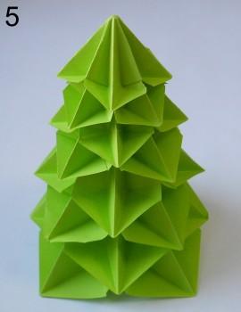 оригами елка сехма 5