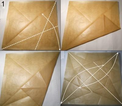 Муха оригами схема 1