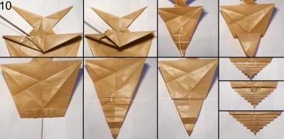 Муха оригами схема 10