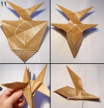 Муха оригами схема 11