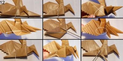 Муха оригами схема 12