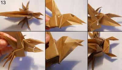 Муха оригами схема 13